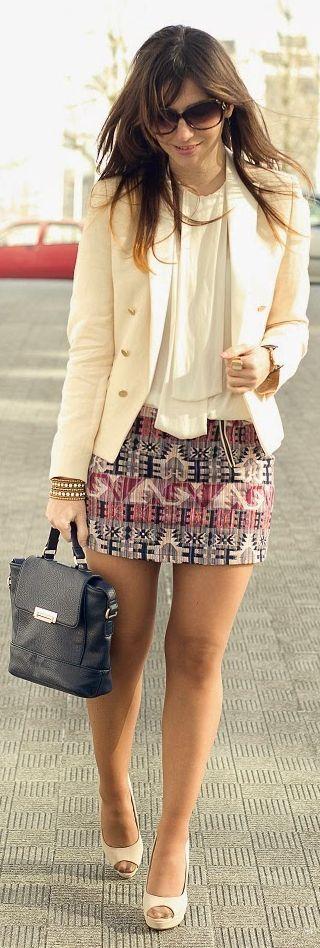 Lefties Pink And Grey Aztec Print Mini Skirt                                                                             Source