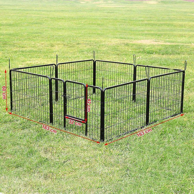 1480 Songmics 80 x 60 cm Jaula Valla Para Perros, Corral Plegable Para Cachorros | eBay