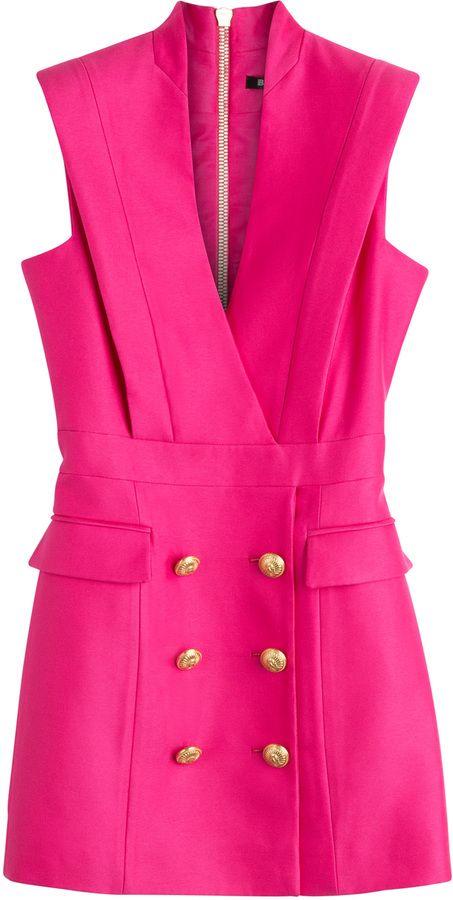Balmain Crepe Tuxedo Dress on shopstyle.com