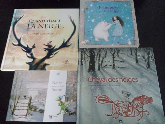 Sous le feuillage: Feuilletage d'albums #8 : spécial neige. La Princesse des Neiges - Quand tombe la neige - Cheval des neiges - Neige/Snow