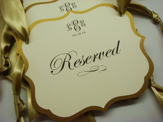 Wedding Reserved Seating Pew Or Chair Signs Prepared By Wedology 900