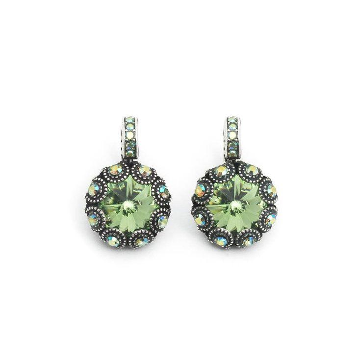 Mariana Chique groene oorbellen met Swarovski Elements kristal