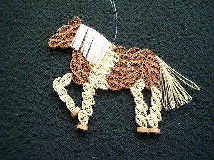 Paper quilling HorseQuilling Animal, Quilling Boards, Hors Ornaments, Hors Crafts, Quilling Horses, Quilling Wildlife Animal, Paper Quilling Hors, Horses Ornaments, Paper Crafts
