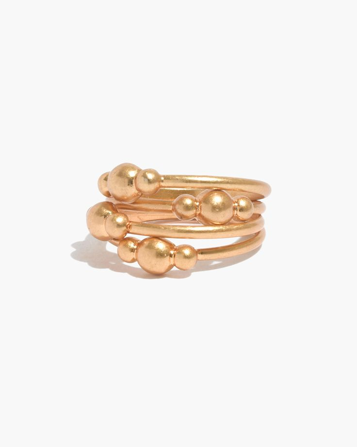 gilded orb stacking rings