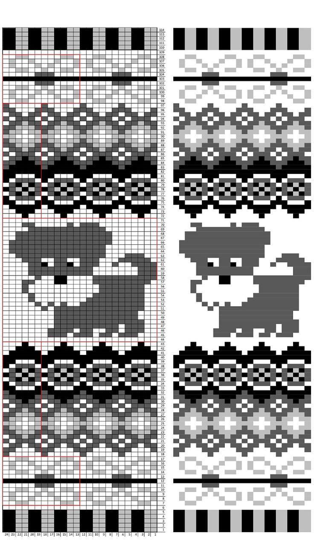 Ravelry: PetiteWeaver's schnauzer cowl | Knitting charts ...