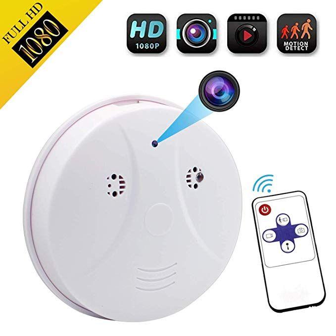 WiFi IP Smoke Detector Camera Monitor Motion Detection Nanny SpyCam DVR HD 1080P