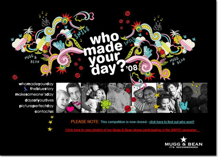 Community website design for Who Made Your Day with Mugg & Bean