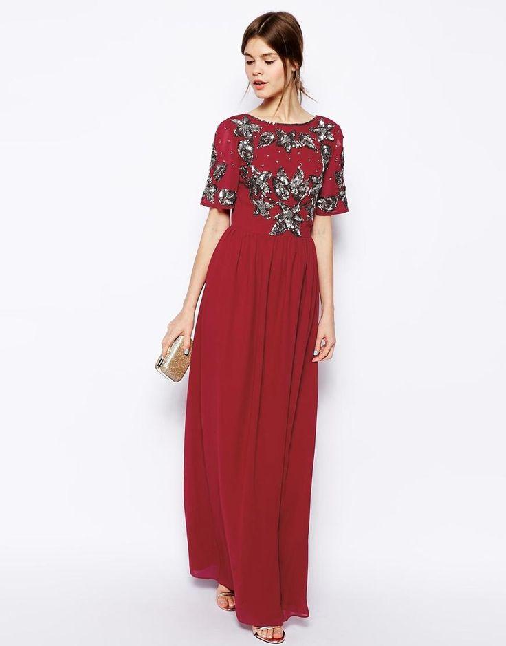 ASOS | ASOS Embellished T-Shirt Maxi Dress at ASOS