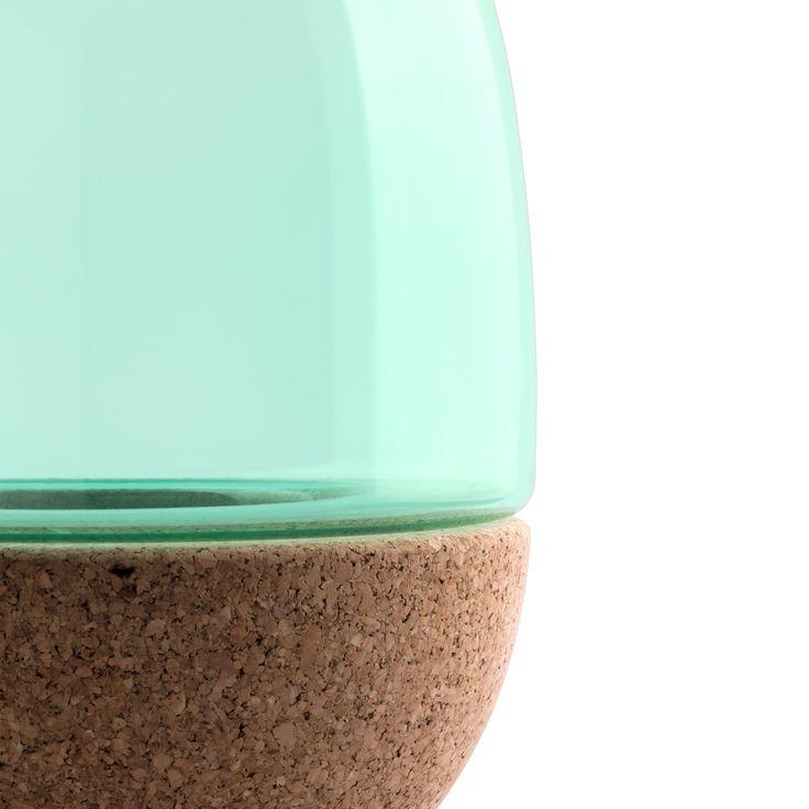 Pitaro vase in tuquoise glass
