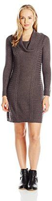 A. Byer Juniors' Cable-Knit Fashion Sweater Dress - Shop for women's Sweater - Black Sweater