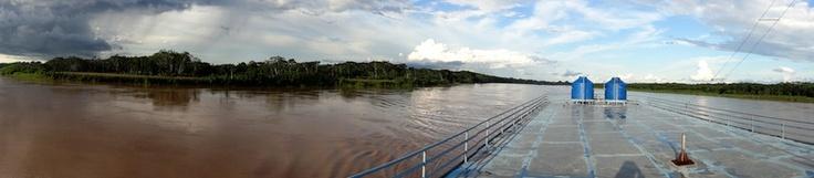 Top deck of the Eduardo VIII, Rio Maranon, Sony DSC-HX9V panorama