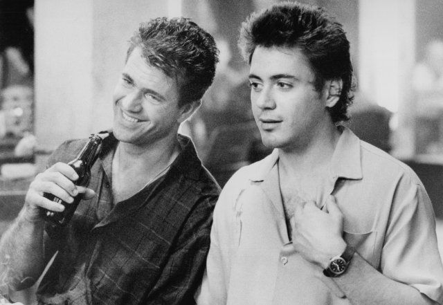 Robert Downey Jr. and Mel Gibson in Air America