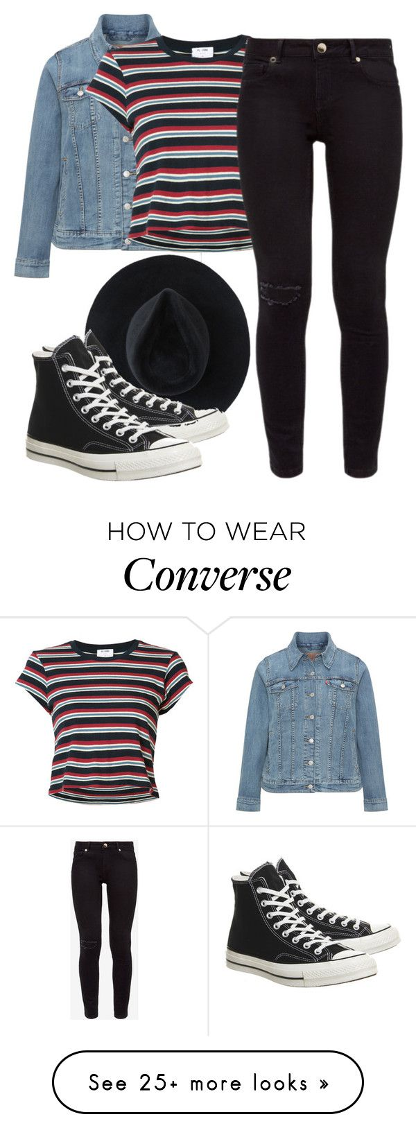 """Untitled #1655"" by milesofsmiles12345 on Polyvore featuring Levi's, Ryan Roche, RE/DONE, Ted Baker and Converse"
