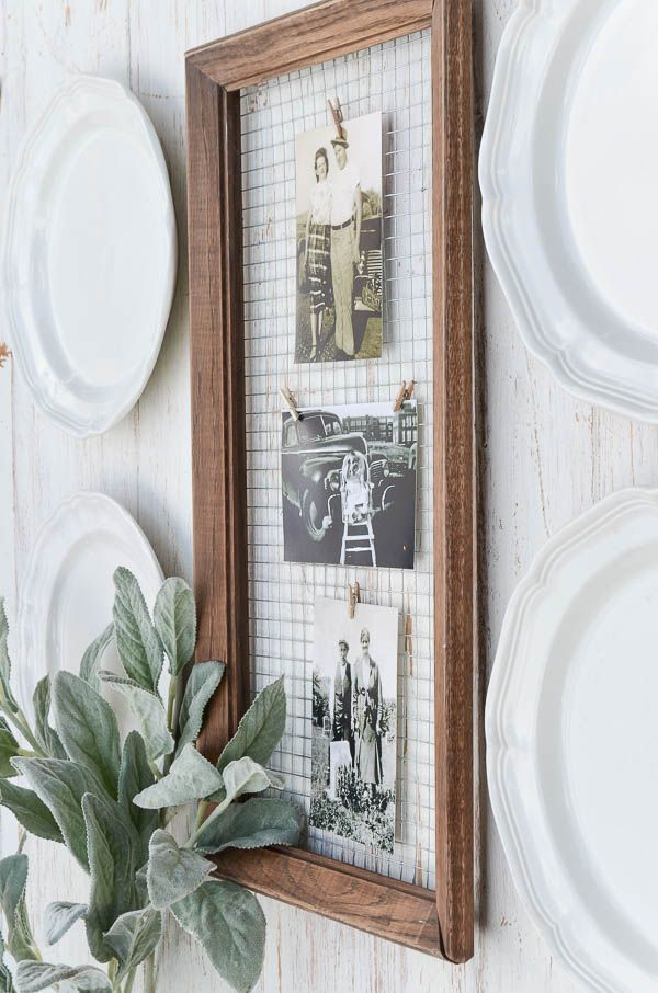 DIY Message Board perfect for displaying notes or favorite pictures.  ||  Created by anderson + grant for Craftberry Bush.