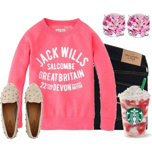 A fashion look from December 2012 featuring Jack Wills tops and Abercrombie & Fitch leggings. Browse and shop related looks.