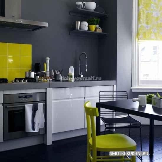Серые стены на кухне, дизайн, цветовые сочетания, фото, видео | Kuhniplan.ru