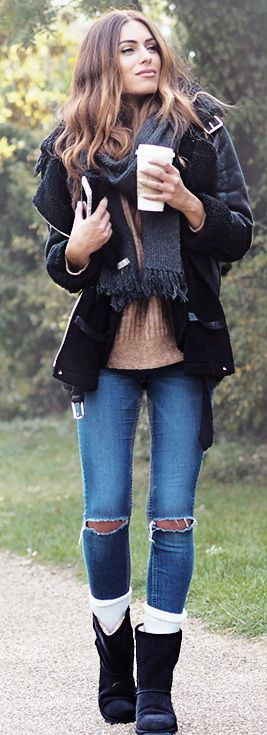 Boots – EMU Autralia Coat – Glasshouse Socks – The White Company Scarf – Hobbs Gloves – John Lewis