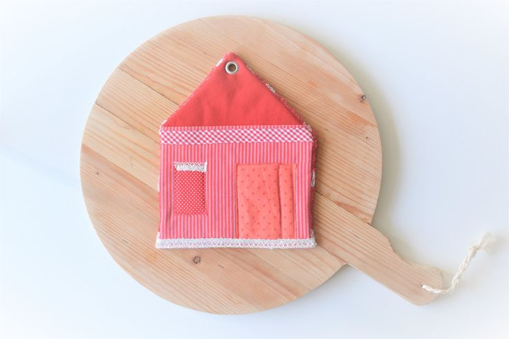 sale - pointed roof house potholder - unique housewarming gift - patchwork - trivet - foodie gift - new house - new home