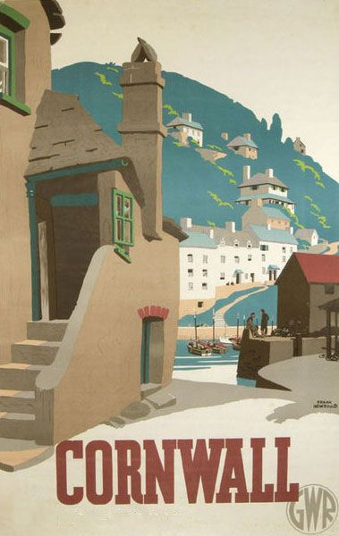 Classic Cornwall travel poster by GWR (Great Western Railway)