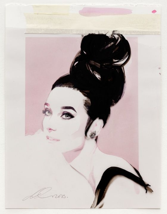 thefashionofaudrey: A wonderful portrait of Audrey Hepburn (in 1963) by David Downton for Vanity Fair, edition of May 2013.
