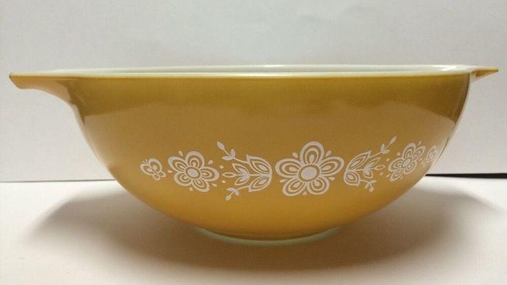 Vintage Pyrex Casserole Dish Butterfly Gold 4qt Ovenware   eBay