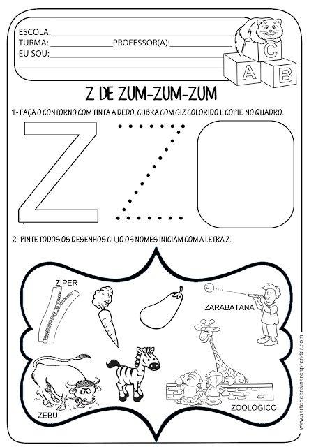 Atividade pronta - Letra Z