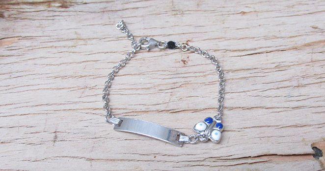 Butterfly identity sterling silver bracelet. Find it at www.giftedmemoriesjewellery.com.au