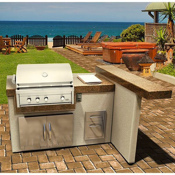 This is the shape I ambition for the backyard grilling area.  Its small yet it gives enough surface for all the food.
