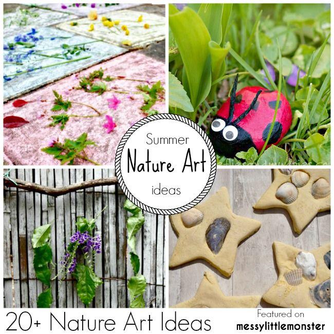 Messy Little Monster: Summer Nature Art & Craft Ideas for Kids