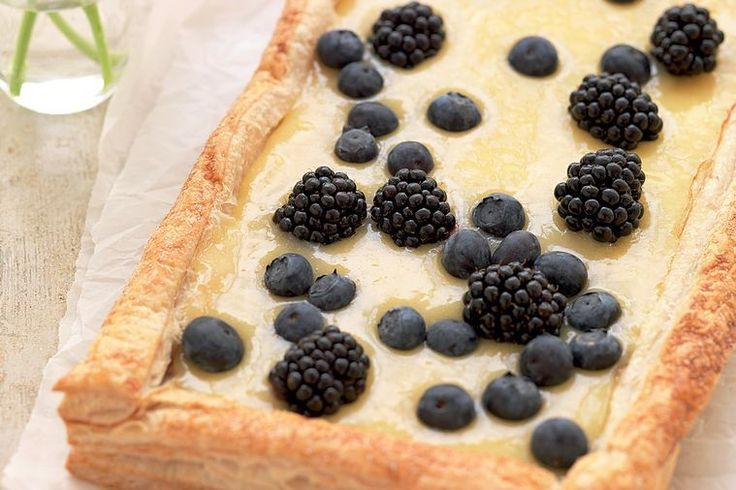 Lemony zest and tangy berries make for a deliciously light dessert that's perfect year-round.