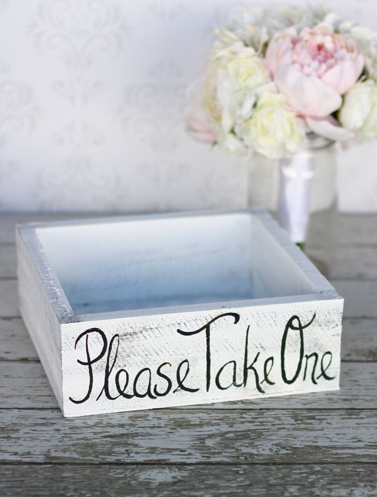 Shabby Chic Wedding Favors | Rustic Shabby Chic Wedding Favors Box Decor item by braggingbags