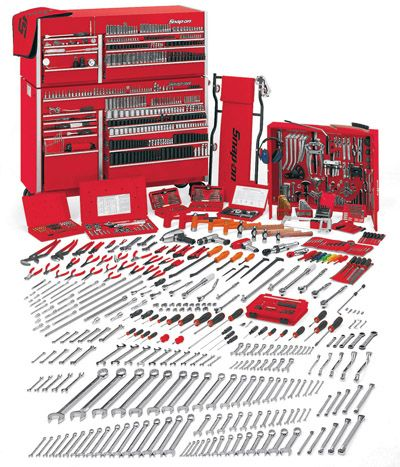 Many tools are needed to complete a job on a car, and Snap-on is one of the best tool companies in the world. It would be very beneficial for a mechanic to own atleast one set of these tools.