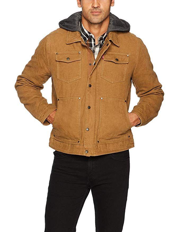 Levi s Trucker Cotton Removable Jacket With Canvas Men s Affiliate aUqz7wvq 7c053e42fa