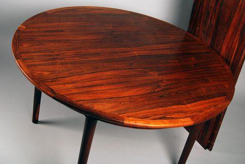 Rare dining set by Torbjørn Afdal for Bruksbo Norway 1958-62 Price: 32500 SEK / set Size: 120 x 74 cm Leaves: 120 x 45 cm