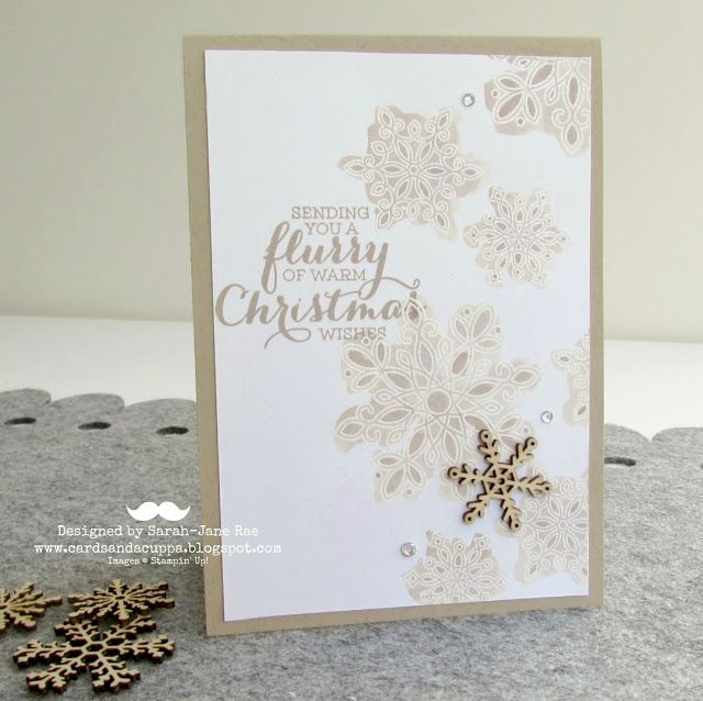 Watercoloured Emboss Resist with new Flurry Of Wishes Stamps by Stampin' Up!