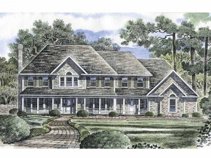 Eplans farmhouse house plan luxurious brick estate for Brick country house plans
