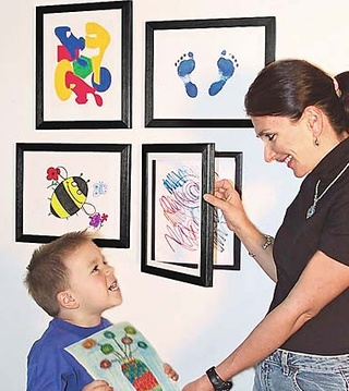 storage frame for kids art.