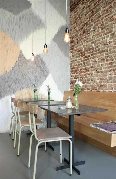 I like the wall. Clouds in my Coffee http://www.newplacestobe.com/region/ghent/new-clouds-in-my-coffee-gent