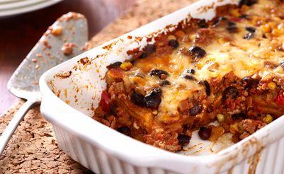 Chilaquiles au dindon en casserole (enchiladas)