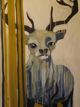 "Saatchi Art Artist Laurel Gallagher; Painting, ""The Stag"" #art"