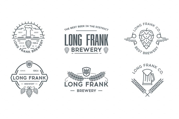 beer logo templates bundle. by I-RO on @creativemarket