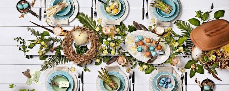 Snart stundar våren och vi dukar upp till påskfest. En kreativ och uppfinningsrik dukning kan lyfta middagen och festen och göra den till något alldeles speciellt.