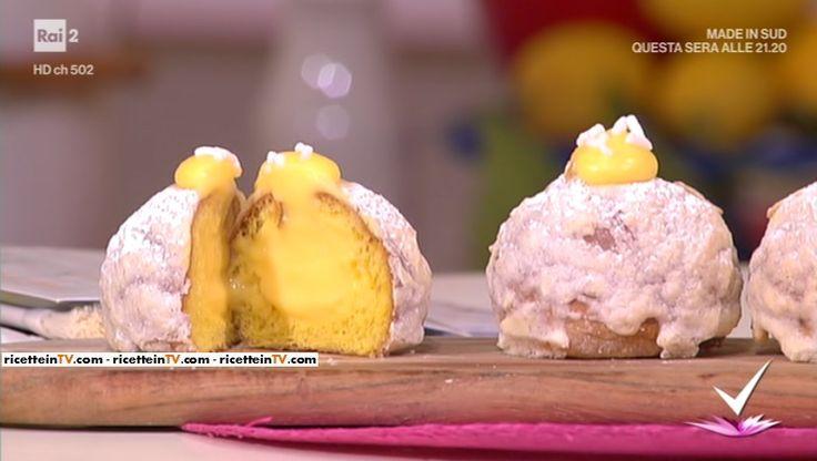 """""""Detto Fatto"""": la ricetta delle veneziane (brioches con crema al limone) di Domenico Spadafora del 14 marzo 2017."""