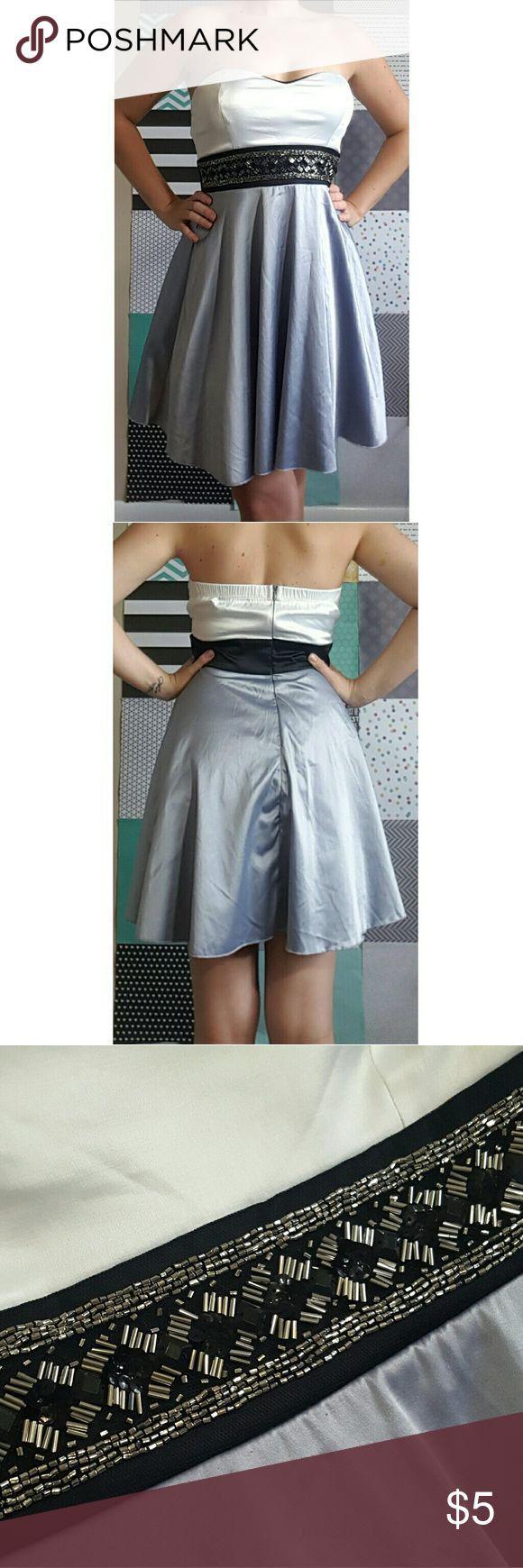 Nice White Dresses For Plus Size SALE Trixxi Sweetheart Strapless Knee Length Dress Trixxi, gray/white/black, bea... Check more at http://24store.tk/fashion/white-dresses-for-plus-size-sale-trixxi-sweetheart-strapless-knee-length-dress-trixxi-graywhiteblack-bea/
