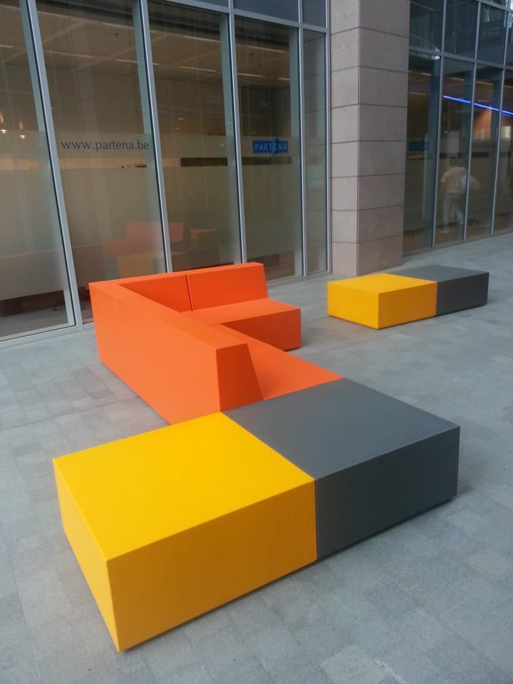 Trinityu0027s Modular Furniture Design In EPS (expanded Polystyrene) +  Hardcoat, For Indoor And Outdoor Use. | Sixinch Projects   All  Installations | Pinterest ...