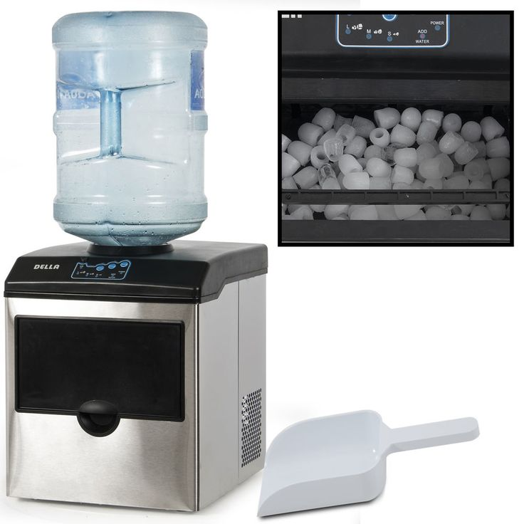 Stainless Steel Water Dispenser w/ Built-In Ice Maker Machine Counter Portable #Onebigoutlet