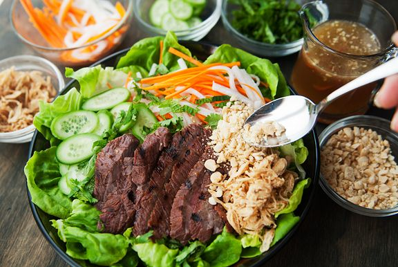 vietnamese grilled beef salad recipe | supper & savories | Pinterest