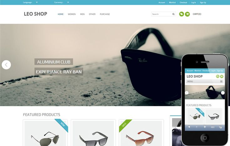 Leoshop is a flat eCommerce Responsive web design template. You can use this template for any kind of Online Shopping, eCommerce web and mobile websites like Jabong, Myntra, Snapdeal, Amazon and so on.