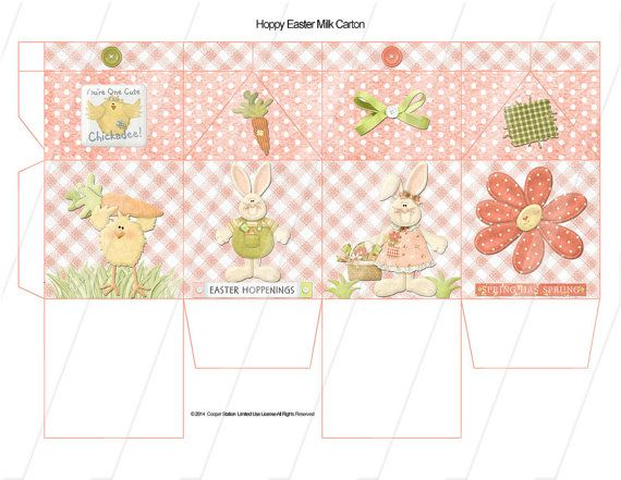 493 best Holidays easter templates \ printables images on - easter postcard template