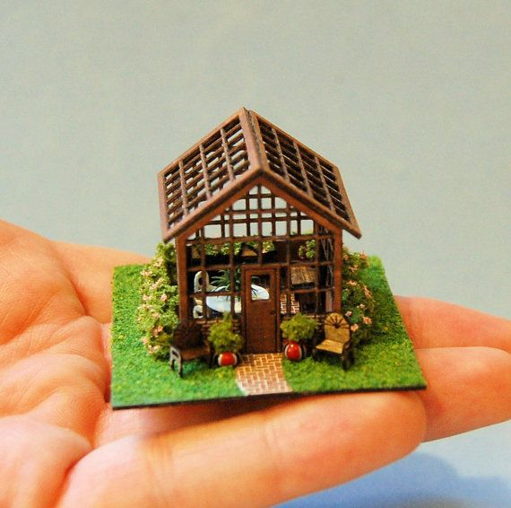 1/144th inch scale; Miniature Greenhouse by sdkminiatures